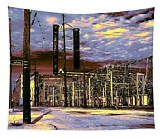 Old New Orleans Electric Plant Tapestry