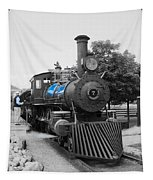 Old No. 7 Black White And Blue Tapestry