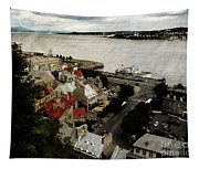 Old Quebec City By St.lawrence Tapestry
