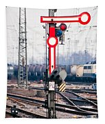 Old Railway Semaphore Tapestry