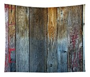 Old Reclaimed Wood - Rustic Red Painted Wall  Tapestry