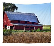 Old Red Barn Near Etowah Nc Tapestry