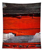 Old Red Barn Three Tapestry