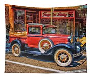 Old Red Pickup Truck Tapestry