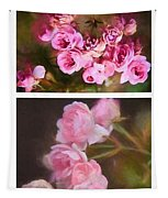Old Roses Vertical Tapestry