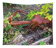 Old Rusty Bike In The Weeds 2 Tapestry