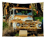Old Rusty International Flatbed Truck Tapestry