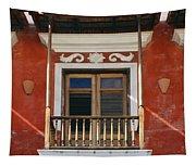 Old San Juan Balcony Tapestry