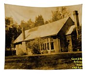 Old Sepia Photo Old Farmhouse H A Tapestry