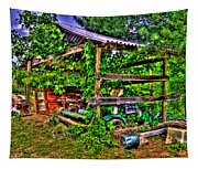 Old Shed Tapestry