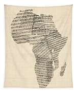 Old Sheet Music Map Of Africa Map Tapestry
