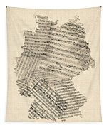 Old Sheet Music Map Of Germany Map Tapestry