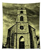 Old St. Mary's Church In Fredericksburg Texas In Sepia Tapestry