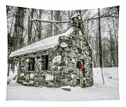 Old Stone Chapel Stowe Vermont Tapestry