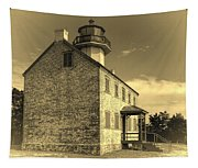 Old Time East Point Light Tapestry
