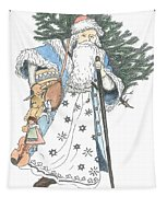 Old Time Santa With Violin2 Tapestry