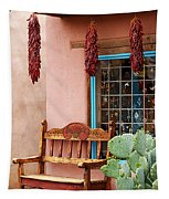 Old Town Albuquerque Shop Window Tapestry