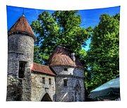 Old Town - Tallin Estonia Tapestry