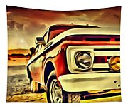 Old Truck Art Tapestry