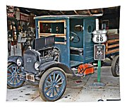 Old Tyme Auto Shop Tapestry