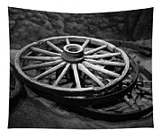 Old Wagon Wheels Tapestry