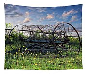 Old Weathered Plow Tapestry