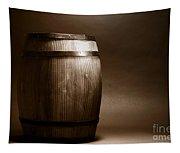 Old Whisky Barrel Tapestry