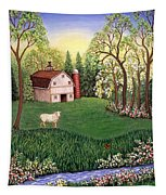 Old White Barn Tapestry