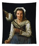 Old Woman Spinning, 1646-48 Tapestry