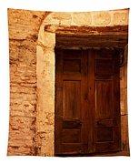 Old Wooden Doors Tapestry
