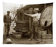 Old  Wooden Wine Press Circa 1910 Tapestry