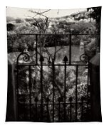 Olde Victorian Gate Leading To A Secret Garden - Peak District - England Tapestry