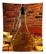 Olive Oil On Table Tapestry
