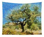 Olive Tree On Van Gogh Manner Tapestry