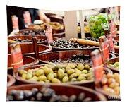 Olives In Barrels Tapestry