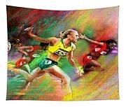 Olympics 100 Metres Hurdles Sally Pearson Tapestry