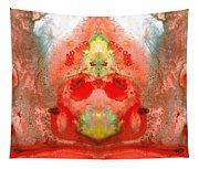 Om - Red Meditation - Abstract Art By Sharon Cummings Tapestry