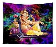 Om Shanti Ganesh Tapestry