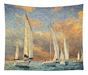 On A Windy Day Tapestry