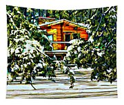 On A Winter Day Tapestry