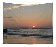 On The Beach At Sunrise - Wildwood New Jersey Tapestry