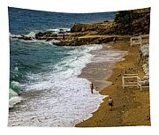 On The Beach - Dubrovnic Tapestry