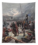 On The Night Of Marignan, Illustration Tapestry