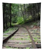 Victorian Locomotive Tracks Tapestry