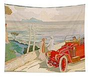 On The Road To Naples Tapestry
