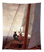 On The Sailing Boat Tapestry