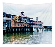 Buildings On The Water  Tapestry