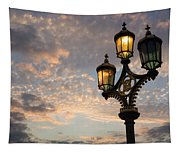 One Light Out - Westminster Bridge Streetlights - River Thames In London Uk Tapestry