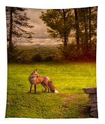 One Red Fox Tapestry