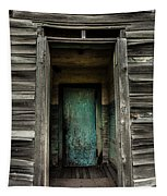 One Room Schoolhouse Door - Damascus - Pennsylvania Tapestry